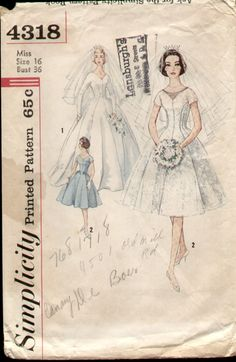 Vintage wedding dress pattern <3