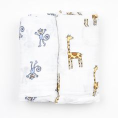 "Aden + Anais ""Jungle Jam"" Pack of 2 Swaddles with Animal Motifs... buy now in www.littlehipstar.com"