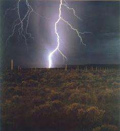 Walter De Maria's Lightening Field, New Mexico
