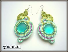 soutache earrings with lunasoft