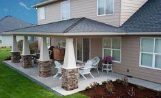 >>Patio Ideas for your backyard you will love - covered patio ideas - backyard patios tips<< Backyard Covered Patios, Covered Patio Design, Covered Back Patio, Backyard Patio, Wood Patio, Covered Pergola, Pavers Patio, Patio Bar, Concrete Patio