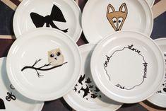 DIY sharpie plates - customized plates for children
