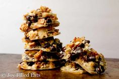 Five Minute Magic Keto Cookies take all the flavors of my popular Magic Cookie Bars and turn them into a cookie that mixes up in only 5 minutes.