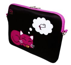 Kitty to Go LS143-13 Designer Neopren MacBook Sleeve bis 33,8 cm (13,3 Zoll)  DIGITTRADE LS143 Kitty to Go  Notebook-Hülle  13.3  Maße (Sleeve): 33,5 x 24,5 x 3,0 cm Notebookgröße: bis 13,3 Zoll  33,8 cm Notebookabmessungen: bis 32,5 x 22,7 x 3...