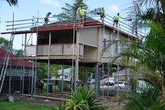 The old decramastic roofing is removed and the house receives a new Colorbond roof. Colorbond Roof, House Lift, Queenslander, Old Things, Cabin, House Styles, Home Decor, Decoration Home, Room Decor
