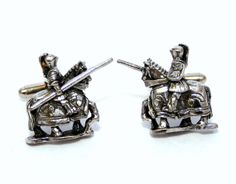Medieval Jousting Knight Cufflinks English Pewter by PaulSimmons, £15.95