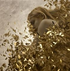 Artist Brad Kunkle combines oil painting and genuine gold and silver leaf to produce these gorgeous paintings. He was born in Lehighton, Pennsylvania in 1978,and has a BFA in painting from Kutztown University. He lives and works in New York City.