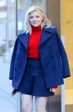 Chloe Moretz was seen as she leaving SiriusXM Radio in New York City