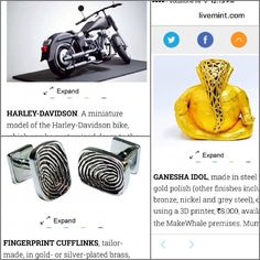 Something we liked from Instagram! Thrilled to have 3 of our products featured in the #MintLounge special on gifting ideas for this season!  #WhatWillYouPrint?  #ganesh #harley #cufflinks #mensaccessories #dapper #3dprintingindia #3dprinting #3dprint #3dprints #3dPrinter #3dPrinted #gift #giftideas #gqindia #gifting #makewhale  #mensjewelry #mensjewellery #3dPrintingMumbai #ganesha #press #harleydavidson by makewhale check us out: http://bit.ly/1KyLetq