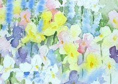 Positive and Negative Flower Shapes - Susie Short's details for painting garden flowers close -up with watercolor