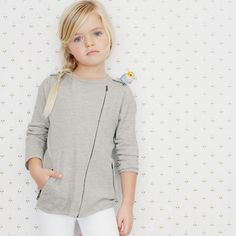 The Little White Company Knitted Biker Jacket