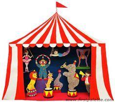 Circus Diorama and Circus Puppet Theater craft