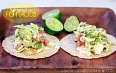 lightened fish tacos