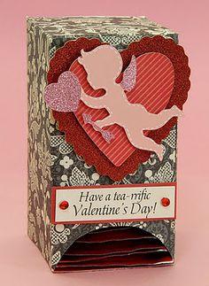 Easy Tea Bag Dispenser - cute for teacher Valentine
