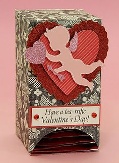 Easy Tea Bag Dispenser - cute for teacher Valentine