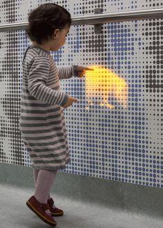 #Corvi #LED #Light Magic-forest LED walls calm kids on way to surgery