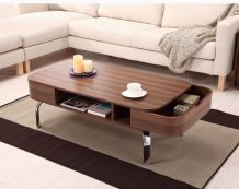 ****Berkley Modern Coffee Table $175.99 -- I like the softer look of the rounded edges.