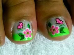 Modern Nail Art Designs that Are Too Cute to Resist Cute Toe Nails, Cute Nail Art, Pretty Nails, Pedicure Designs, Toe Nail Designs, Feet Nail Design, Nails Design, Cute Pedicures, Manicure