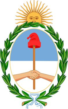 Coat of arms of Argentina. national symbols of argentina Organization Of American States, Argentina Flag, Argentina Culture, National Symbols, Family Crest, Free Vector Graphics, Crests, Moorish, Coat Of Arms