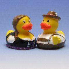 Bayrisches Quietscheentenpaar - Rubber Duck