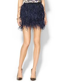 Ostrich Feather BB Mini Skirt Product Image