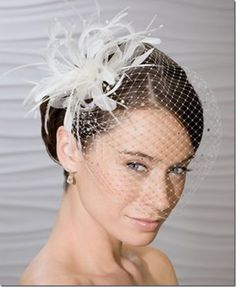 Nice shape across the head and face. The post Diamond Accent Birdcage veil with Detachable Feather Pearl Fascinator Hair Clip appeared first on Aktuelle. Feather Headpiece, Headpiece Wedding, Wedding Veils, Bridal Headpieces, Bridal Hair, Wedding Garters, Fascinators, Wedding Reception, Wedding Hair Accessories
