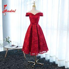 >> Click to Buy << Amdml Stylish Bow Belt A-line Slim Burgundy Bridesmaid Dresses 2017 Knee-Length Sleeveless Lace Vestido Curto Plus Size #Affiliate