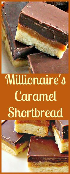 Millionaire's Caramel Shortbread - Naughty but OH SO NICE! Layers of chocolate and caramel on a crumbly shortbread cookie base Just Desserts, Delicious Desserts, Dessert Recipes, Yummy Food, Xmas Desserts, Salad Recipes, Profiteroles, Eat Dessert First, Dessert Bars