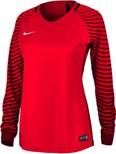 caa35e037 Buy the Nike Womens Gardien Goalkeeper Jersey in Bright Crimson   Deep  Garnet
