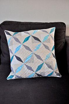 Grey and aqua pillow