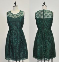 PROVENCE Emerald CUSTOM FIT : Emerald green lace by MfandjDesigns