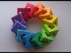 【Modular Origami】ぽよから式ユニットC30枚組【ユニット折り紙】4 - YouTube