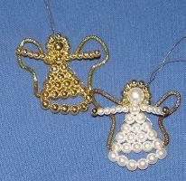 Perlenfiguren Engel aus Perlen basteln