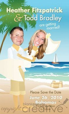 Diy Save The Date Destination Wedding Template Dates