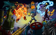 Showdown of the Mighty Numbers by shumworld on DeviantArt Keiji Inafune, 9 Game, Mega Man, Robot, Naruto, Indie, Numbers, Universe, Deviantart