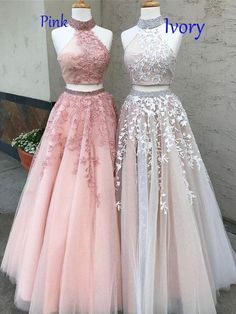 Prom Dresses Lace, Prom Dresses Two Piece, Modest Prom Dresses, A-Line Prom Dresses, Custom Made Prom Dresses Prom Dresses Long Outlet Delightful Prom Dress For Cheap Two Piece Prom Dress A-line Simple Modest African Lace Cheap Long Prom Dress # Prom Dresses Long Pink, Lace Evening Dresses, Dress Lace, Wedding Dresses, Tulle Wedding, Dress Prom, Dress Formal, Halter Top Prom Dresses, Formal Prom