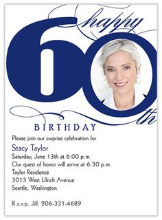 60th Birthday Invite Wording Samples
