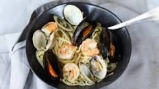 Seafood pasta with white wine and chilli recipe - BBC Food