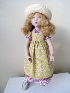 "2006 Zwergnase Junior ""Amelia"", 19.5 inches, all vinyl, strung joints, wigged hair. She's in her original outfit here."