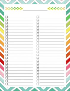 FREE Home Management Binder - Blank list