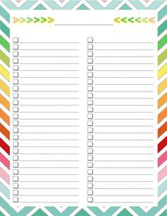 FREE Home Management Binder - Blank list