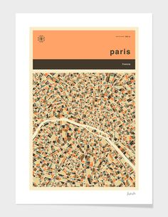 paris map numbered edition fine art print by jazzberry blue from 2500