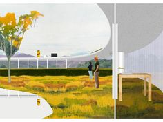 Image 16 of 20 from gallery of Solo House / OFFICE Kersten Geers David Van Severen. Perspective Architecture, Collage Architecture, Architecture Graphics, Architecture Visualization, Architecture Student, Architecture Drawings, Contemporary Architecture, Landscape Architecture, Landscape Design