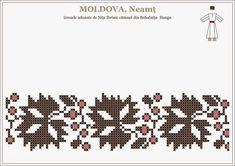 Folk Embroidery, Embroidery Patterns, Romanian Women, Popular Costumes, Moldova, Hama Beads, Beading Patterns, Pixel Art, Cross Stitch