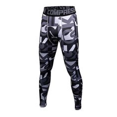 New 2017 Mens Compression Pants Fashion Jogger Tights Lycra Bodybuilding High Elasticity Joggers Base Layer Skinny Leggings
