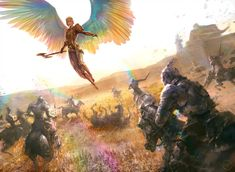 Iridescent Angel by Ryan-Alexander-LeeYou can find Warrior angel and more on our website.Iridescent Angel by Ryan-Alexander-Lee Angel Warrior, Ange Demon, Angels And Demons, Angel Art, Fantasy Inspiration, Fantasy Artwork, Fantasy Characters, Amazing Art, Art Reference