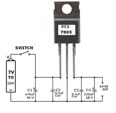 Variable Voltage Power Supply Circuit using the LM317T