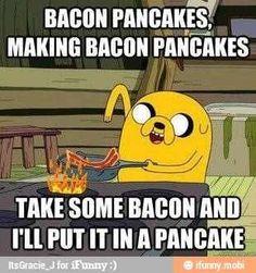 Adventure Time: bacon pancakes!