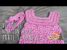 VESTIDO PARA NIÑA Y CINTA PARA EL PELO A CROCHET ( PARTE I) - YouTube Crochet Girls, Crochet For Kids, Free Crochet, Knit Crochet, Baby Clothes Quilt, Crochet Baby Clothes, Crochet Designs, Crochet Patterns, Crochet Videos