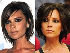layered bob - one of my favorite cuts on victoria beckham - worn straight or wavy